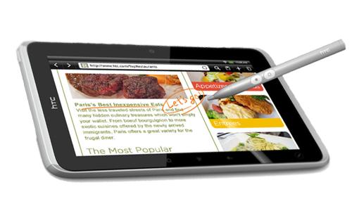 HTC Flyer pen features specification